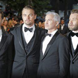 Tobey Maguire, Leonardo DiCaprio, Baz Luhrmann y Joel Edgerton en la ceremonia de apertura del Festival de Cannes 2013