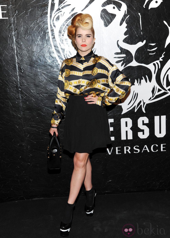 Paloma Faith en la presentación de una colección cápsula de Versace Versus