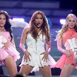Jennifer Lopez actuando en la final de 'American Idol'