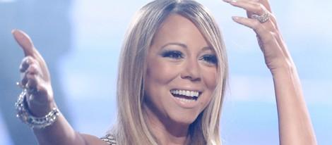 Mariah Carey antes de interpretar '#Beautiful' en la final de 'American Idol'