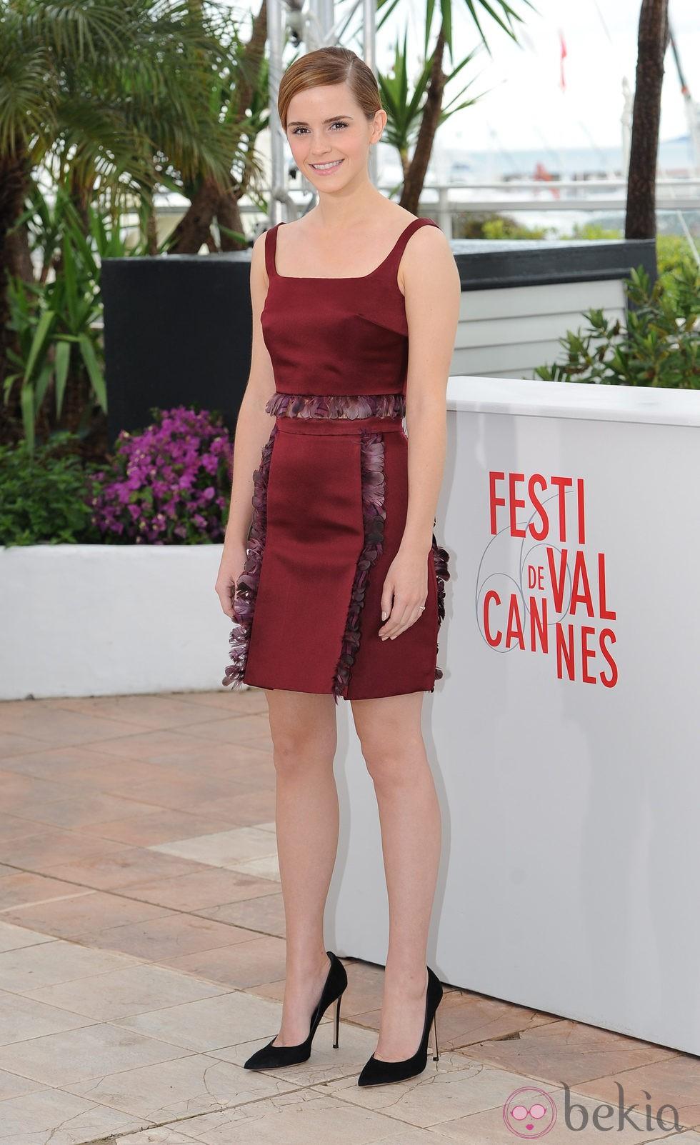 Emma Watson en el photocall de 'The Bling Ring' en el Festival de Cannes 2013
