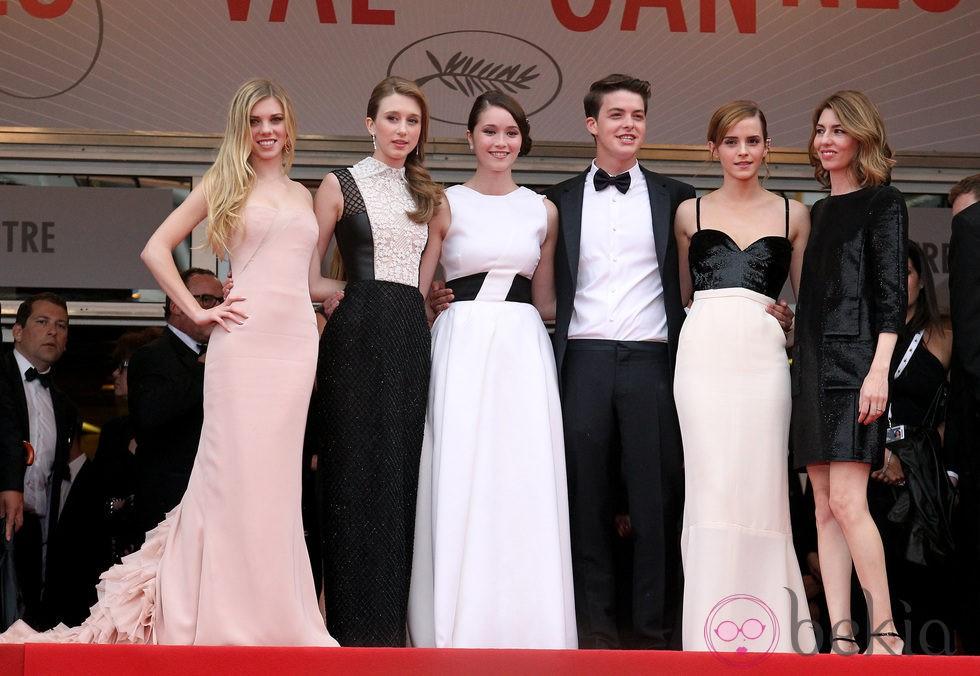El reparto y la directora de 'The Bling Ring' en el Festival de Cannes 2013