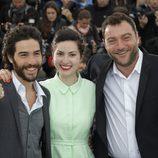 Tahar Rahim, Rebecca Zlotowski y Denis Menochet en el Festival de Cannes 2013