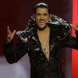 Cezar durante su actuación en el Festival de Eurovisión 2013