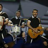 Koza Mostra durante su actuación en el Festival de Eurovisión 2013