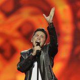 Ryan Dolan durante su actuación en el Festival de Eurovisión 2013