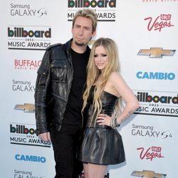 Avril Lavigne y Chad Kroeger en la alfombra roja de los Billboard Music Awards 2013