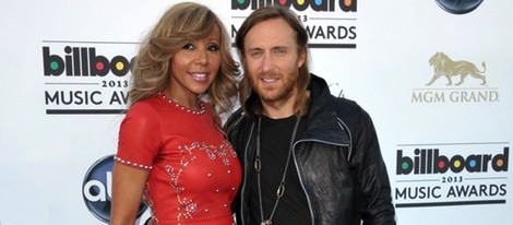 David Guetta y su esposa Cathy en la alfombra roja de los Billboard Music Awards 2013