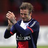 David Beckham muy emocionado en su último partido como futbolista profesional