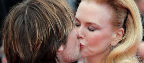 Nicole Kidman besa a Keith Urban en el estreno de 'Inside Llewyn Davis' en Cannes 2013