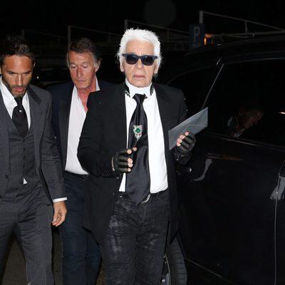Karl Lagerfeld en la fiesta Vanity Fair del Festival de Cannes 2013