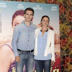 Ingrid Rubio y Marc Clotet en la presentación de la película 'La estrella'