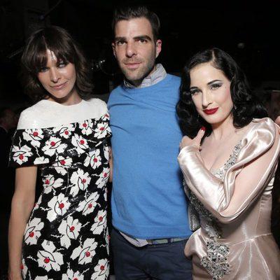 Milla Jovovich, Zachary Quinto y Dita Von Teese en Cannes en la fiesta de un licor