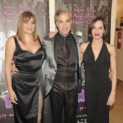 Marta Valverde, Alberto Vázquez y Natalia Millán en el estreno de '¿Hacemos un trío?'