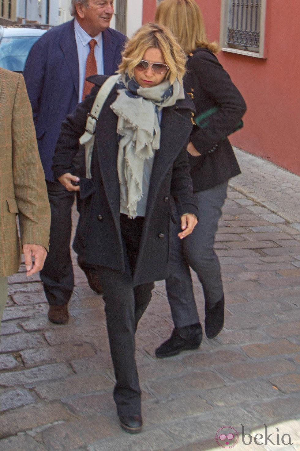 Eugenia Martínez de Irujo en el funeral de Pepe Luis Vázquez