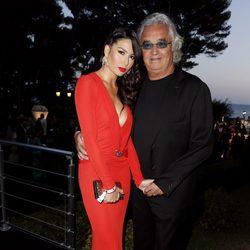 Elisabetta Gregoraci y Flavio Briatore en la fiesta Grisogono de Cannes 2013
