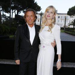 Otto Kern y Naomi Valeska en la fiesta Grisogono de Cannes 2013