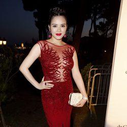 Ly Nha Ky en la fiesta Grisogono de Cannes 2013
