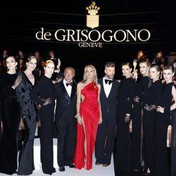 Fawaz Gruosi y Sharon Stone acompañados en la fiesta Grisogono de Cannes 2013