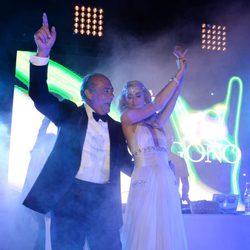 Paris Hilton bailando con Fawaz Grousi en la fiesta Grisogono de Cannes 2013
