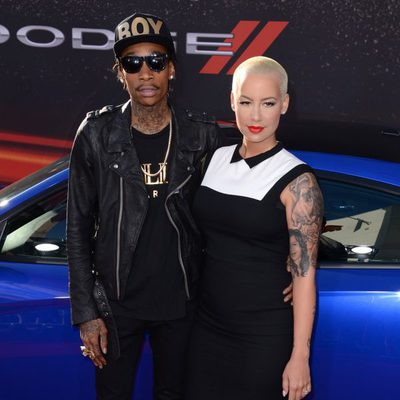 Wiz Khalifa y Amber Rose en el estreno de 'Fast & furious 6' en Los Ángeles