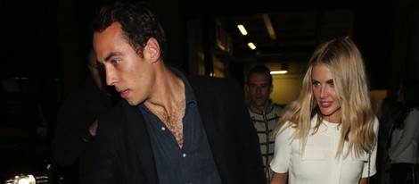 James Middleton y Donna Air disfrutan de la noche londinense