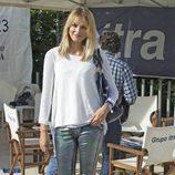Alba Carrillo en un partido benéfico de pádel