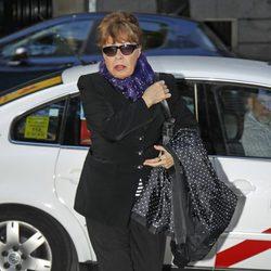 Gemma Cuervo en la misa funeral de Alfredo Landa