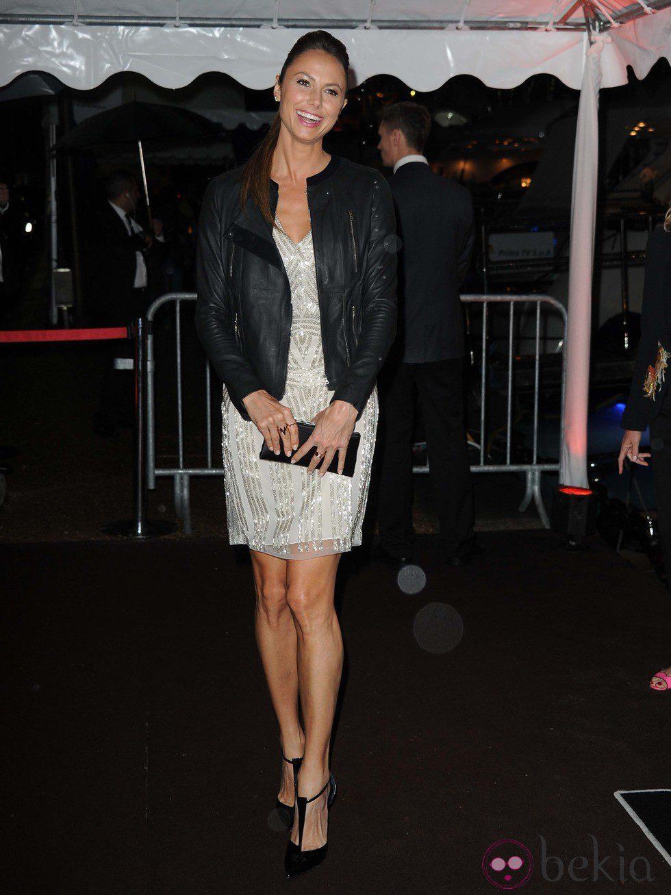 Stacy Keibler en la fiesta en el yate de Roberto Cavalli en Cannes