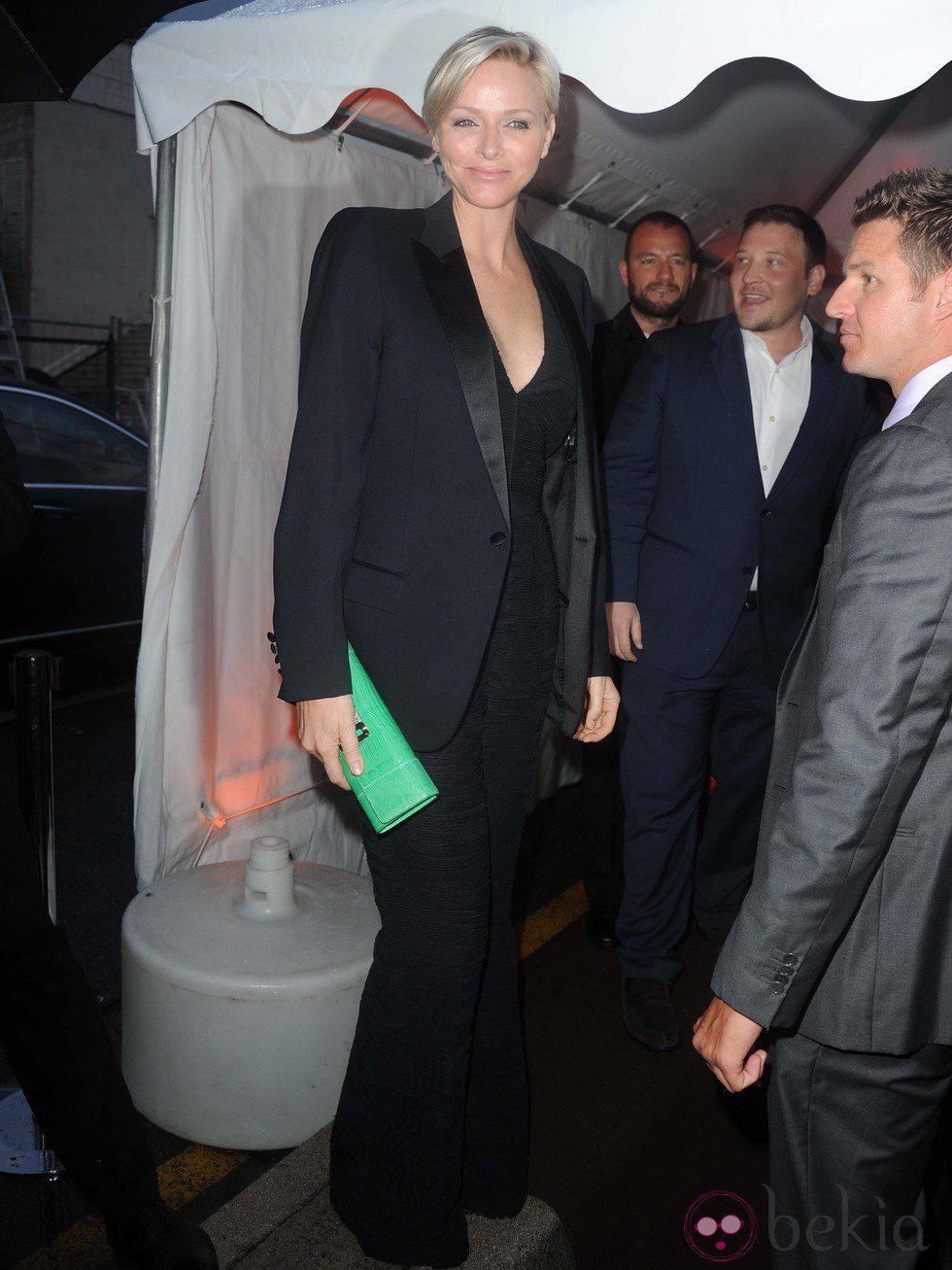 Charlene de Mónaco en la fiesta en el yate de Roberto Cavalli en Cannes