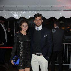 Olivia Palermo y Johannes Huebl en la fiesta en el yate de Roberto Cavalli en Cannes