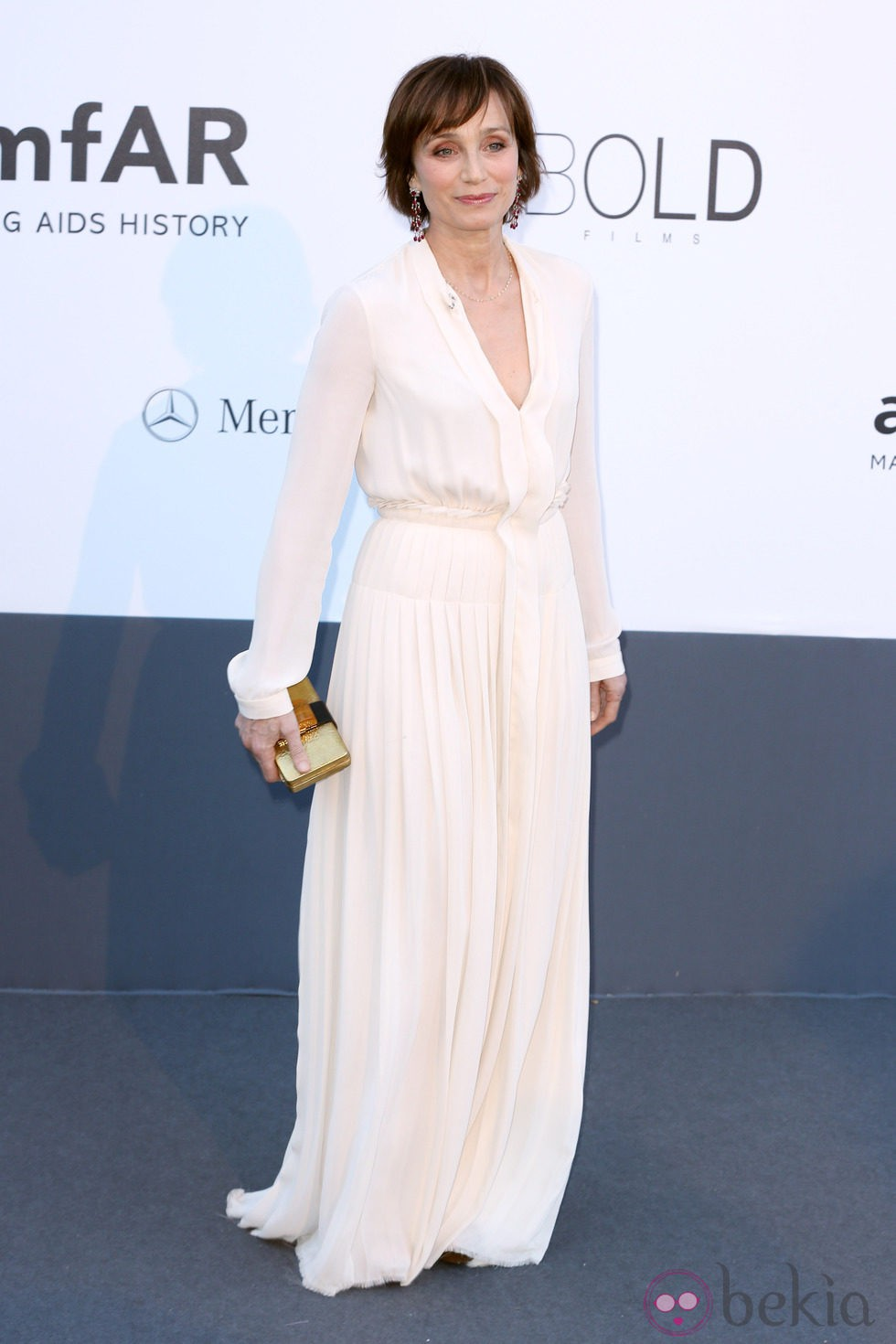 Kristin Scott Thomas en la gala amfAR del Festival de Cannes 2013