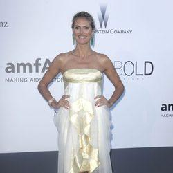 Heidi Klum en la gala amfAR del Festival de Cannes 2013