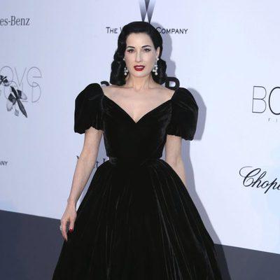 Dita Von Teese en la gala amfAR del Festival de Cannes 2013