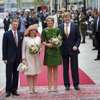 Los Grandes Duques de Luxemburgo y los Reyes de Holanda en Luxemburgo