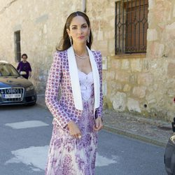 La modelo Eugenia Silva durante la boda de Israel Bayon y Cristina Sainz
