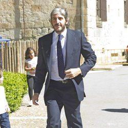 Alfonso de Borbón durante la boda de Israel Bayon y Cristina Sainz