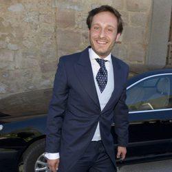 Juan Peña durante la boda de Israel Bayon y Cristina Sainz