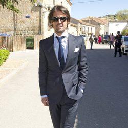 Curi Gallardo durante la boda de Israel Bayon y Cristina Sainz