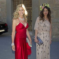 Patricia Cerezo durante la boda de Israel Bayon y Cristina Sainz