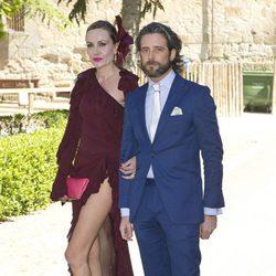 Clara Courel durante la boda de Israel Bayon y Cristina Sainz