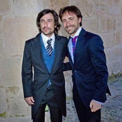 Pablo Nieto y Gelete Nieto durante la boda de Israel Bayon y Cristina Sainz