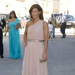 Monica Martín Luque durante la boda de Israel Bayon y Cristina Sainz