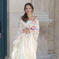 Chenoa durante la boda de Israel Bayon y Cristina Sainz