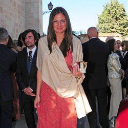 Patricia Martínez durante la boda de Israel Bayon y Cristina Sainz
