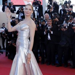 Uma Thurman en la ceremonia de clausura de Cannes 2013
