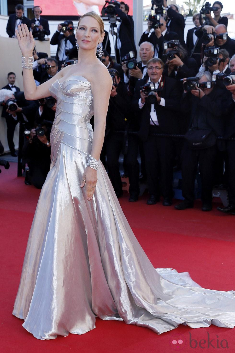 Uma Thurman en la ceremonia de clausura de Cannes 2013