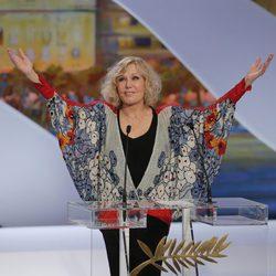 Kim Novak en la ceremonia de clausura de Cannes 2013