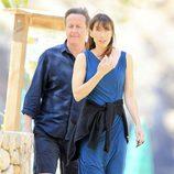 David y Samantha Cameron paseando por Ibiza