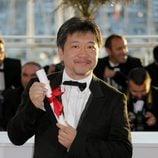 Hirokazu Koreeda en la ceremonia de clausura de Cannes 2013